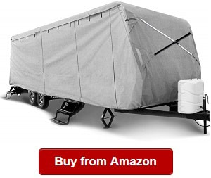 by Toiles VR Ultimate Heavy Duty Heat Shield 15 feet-18 feet, Grey Small Camping Trailer Waterproof Cover Breathable |Exceptional Polypropylene Weather Protected Fabric System