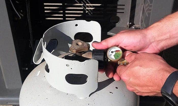 magnetic propane tank gauge